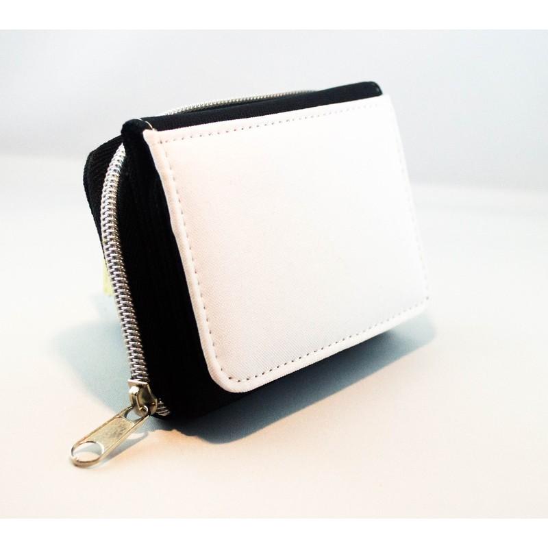 objets personnalisables  portefeuille en tissu noir personnalisable