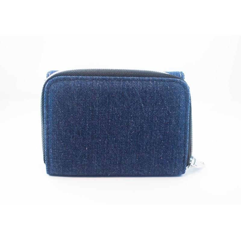 objets publicitaires  portefeuille en tissu jeans personnalisable